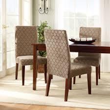 diningroomchairscoversideasbrownwoodentablewhitecarpetonthefloorwhitecurtainswoodenflooringideas