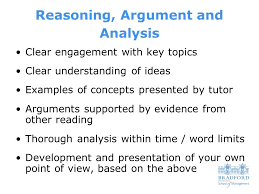 essay writing structure what do tutors look for in assignments  5 reasoning