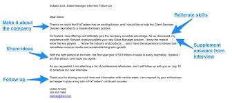 Job Interview Thank You Email Sample For Sales Position Job Resume