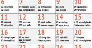 30 Day Crunch Challenge Chart Pic 30 Day Beach Body Challe