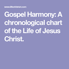 Gospel Harmony A Chronological Chart Of The Life Of Jesus
