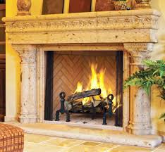 wood burning masonry fireplace by astria