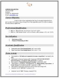 12 New Gallery Of Mba Fresher Resume Format Pdf Creative Resume