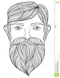 Small Picture Vector Zentangle Portrait Of Man With Mustache And Beard For Adu