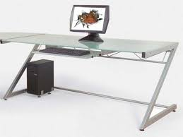 contemporary computer desks for home glass top computer desk with drawers best home furniture decoration home pictures