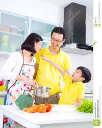 Family Kitchen Asian Family Kitchen Lifestyle Stock Photo Image 56680331