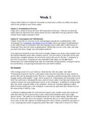 rite of passage final essay week running head back to school most popular documents for ant101