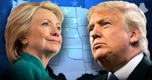 Image result for Hinh Ba Clinton va Donal Trump