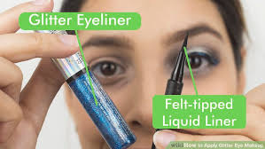 image led apply glitter eye makeup step 7