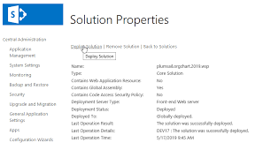 Installation Of Org Chart For Sharepoint 2019 As Wsp Package