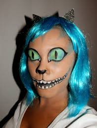 add a tank top tutu and tail and you have quick diy cheshire cat costume without having to have the contacts