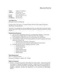 Resume Example Resume Outline Worksheet Templates Resume Layout