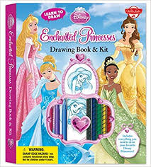learn to draw disney enchanted princesses drawing book kit includes everything you need to draw your favorite disney princesses