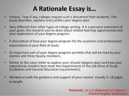 planning writing your rationale essay 3 a rationale essay