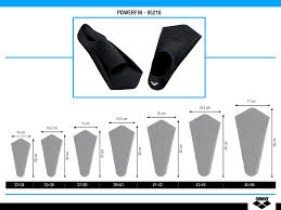 Arena Swim Size Chart Powerfin Fin Accessories Arena