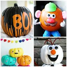 35 NO-CARVE PUMPKIN IDEAS FOR KIDS- these are awesome!
