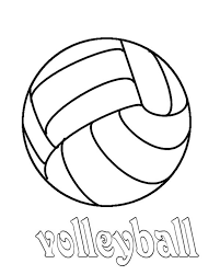 Volleyball Color Pages Volleyball Coloring Page Download Print Online Coloring Pages