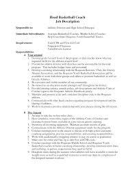 Basketball Coach Resume Sample Gallery Creawizard Com