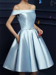 Short Light Blue Grad Dresses Light Blue Off Shoulder Prom Dresses Short Blue Graduation Dresses Homecoming Dresses