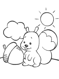 Cute Squirrel Coloring Pages Animal Coloring Pages Of