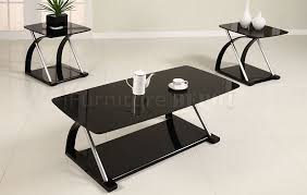 wonderful black glass coffee table black glass modern 3pc coffee table set w metal frame pxct
