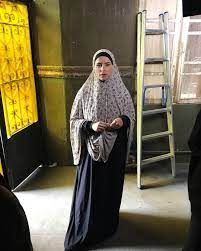 """بالحجاب والجلباب"""".. الفنانة نور من كواليس تصوير مسلسل البرنس - اليوم السابع"""