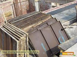 centering in building construction. steel plates for shuttering centering in building construction gharexpert