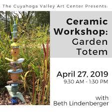 ceramic work garden totem