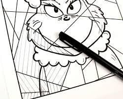 Click on the coloring page to open in a new window and print. Free Printable The Grinch Coloring Page Mama Likes This