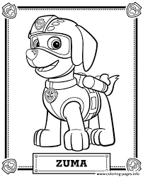 Paw Patrol Zuma Coloring Pages Printable