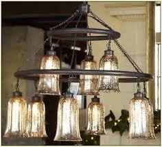 pottery barn brantley antique mercury glass chandelier light rasped iron finish