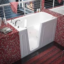 meditub 32x60 inch left drain white air jetted walk in bathtub