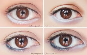 how to make your eyes look big using