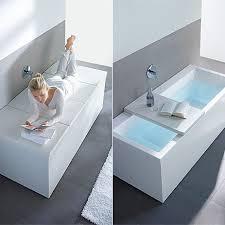 bath tub with shelf