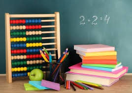 school desk background. Interesting Desk Stock Photo  Toy Abacus Books And Pencils On Table School Desk  Background To School Desk Background D