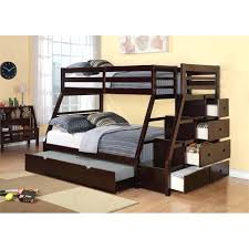 full loft bed frame acme twin over full storage bunk bed with trundle in espresso diy