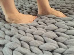 alert famous chunky braided wool rug knit carpet