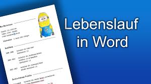 Tabellarischer Lebenslauf In Word Youtube