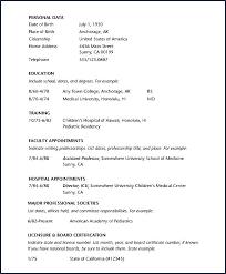 Specimen Of Curriculum Vitae Bj Designs