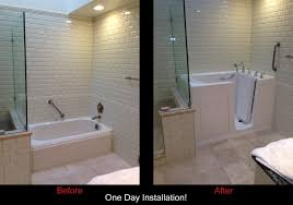 walk in bathtub before and after