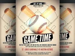 Free Baseball Flyer Template Baseball Flyer Templates Vector Free Premium Themed Blank