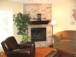 brick corner fireplace design ideas