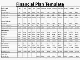 Financial Template For Excel 62 New Of Financial Business Plan Template Pic