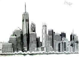 New York Liberty Tower New York Coloriages Difficiles Pour
