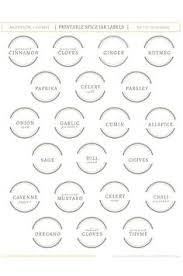Spice Jar Labels Printable 30 Best Spice Jar Labels And Templates Images Bricolage Pantry