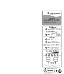 Intellichlor Ic20 Cell Light Off Pentair Intellichlor Ic60 Ic40 Ic20 Ic15 Installation And