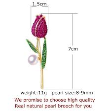 <b>ZHBORUINI 2019 New</b> Natural Pearl Brooch Rose Flower Corsage ...