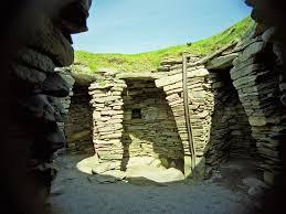 viking ruins jarslhof shetland scotland
