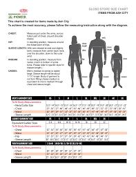 Human Made Size Chart Gloso Store Size Chart