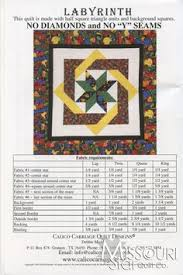 Gimme Diamonds quilt pattern | Quilting Inspiration | Pinterest ... & labyrinth quilt patterns | Labyrinth Pattern - Calico Carriage Quilt Designs Adamdwight.com